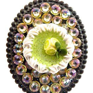 KEY LIME PIE RHINESTONE RING